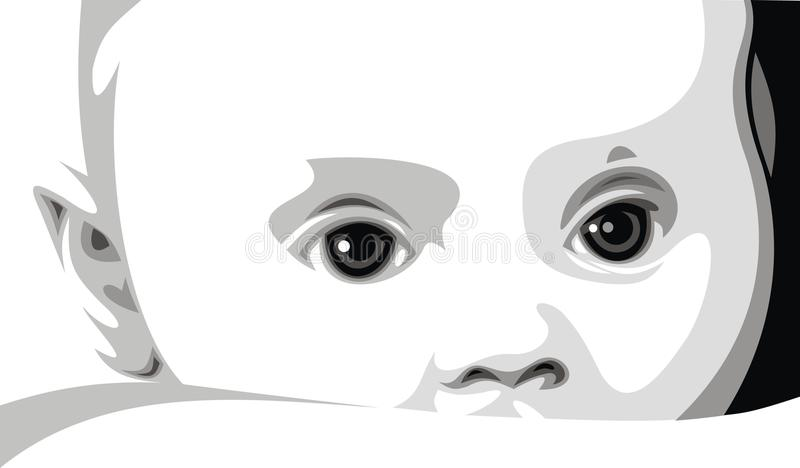Сладостная сторона младенца иллюстрация вектора