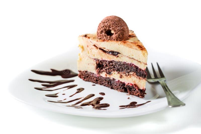 Сладостная часть торта печений стоковое фото rf