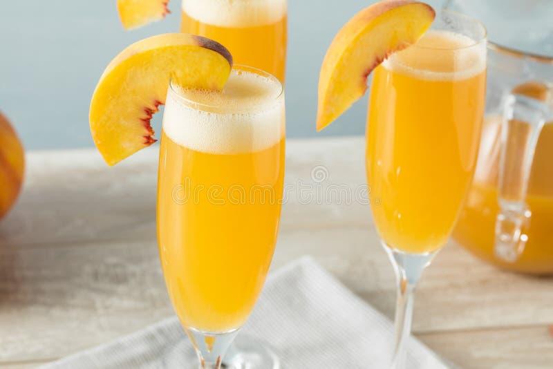 Сладостная шипучая напитк мимоза Bellini персика стоковые фотографии rf