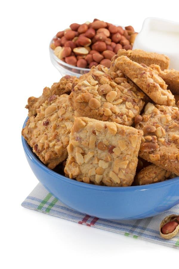 Сладостные печенья на белизне стоковое фото rf