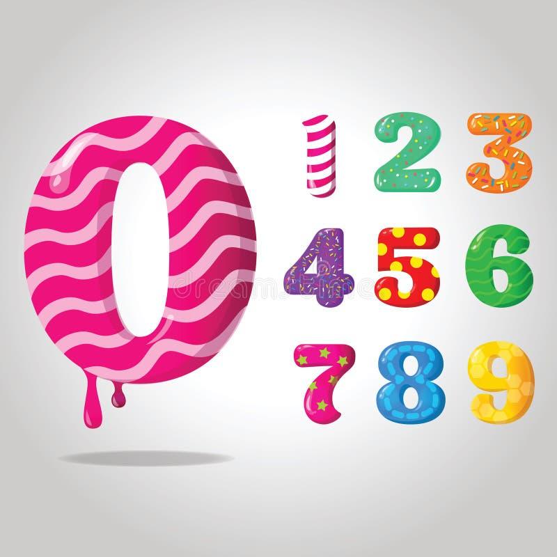 Сладостные числа конфеты стоковое изображение rf