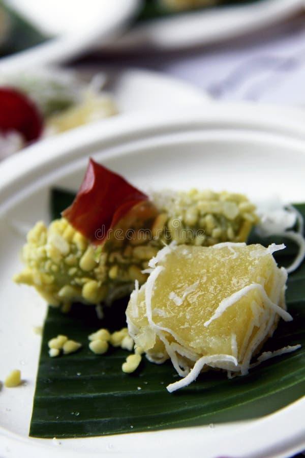 Сладостные casava и рис-crepe фасоли mung стоковое изображение rf