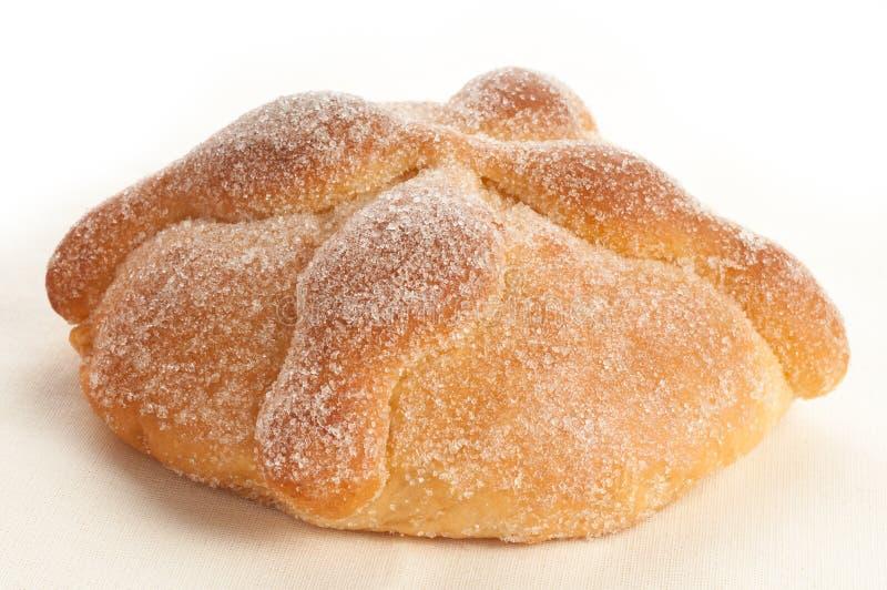Сладостный вызванный хлеб (Лоток de Muerto) стоковое изображение