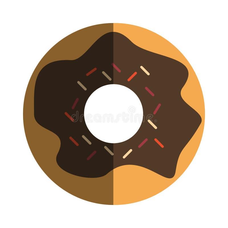 Сладостный значок донута иллюстрация вектора