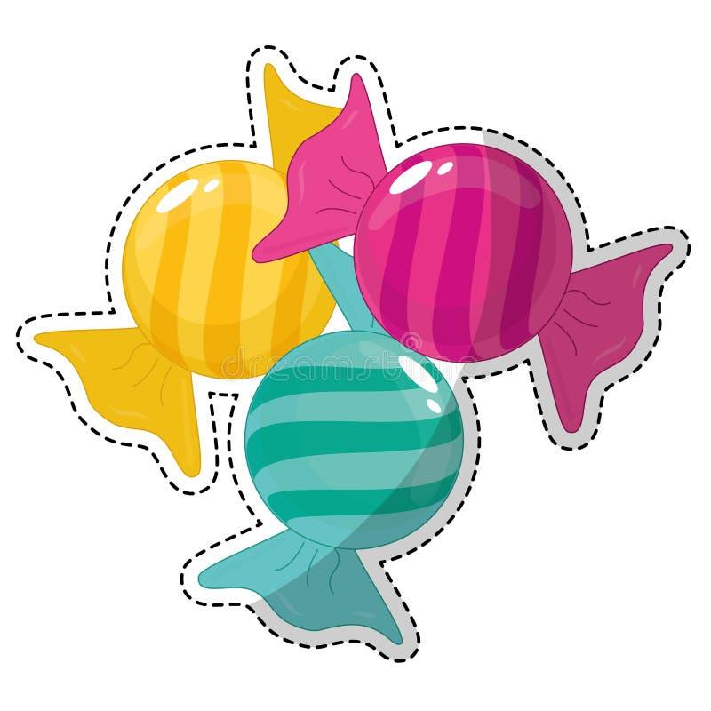 Download сладостный дизайн конфеты иллюстрация вектора. иллюстрации насчитывающей художничества - 81802457