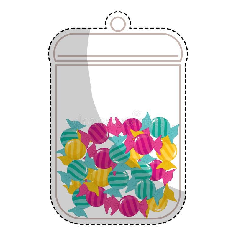 Download сладостный дизайн конфеты иллюстрация вектора. иллюстрации насчитывающей заедк - 81802584