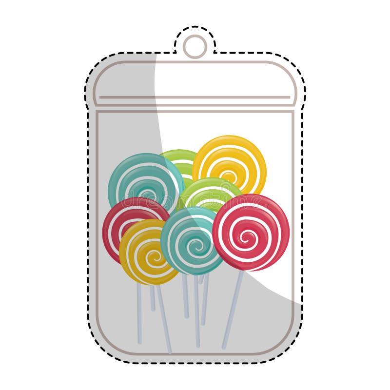 Download сладостный дизайн конфеты иллюстрация вектора. иллюстрации насчитывающей праздник - 81802611