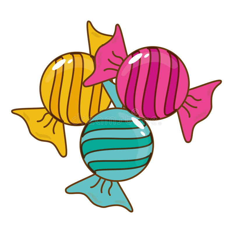 Download сладостный дизайн конфеты иллюстрация вектора. иллюстрации насчитывающей конфета - 81802653