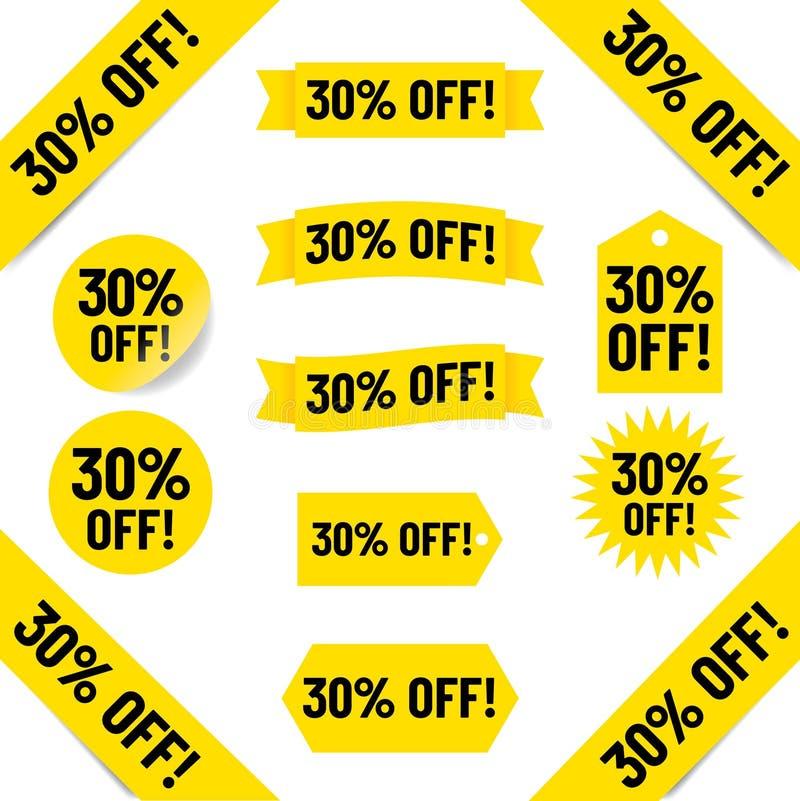 30% с бирок продаж стоковая фотография rf