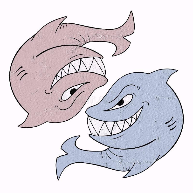 С большим воображением акула иллюстрация штока