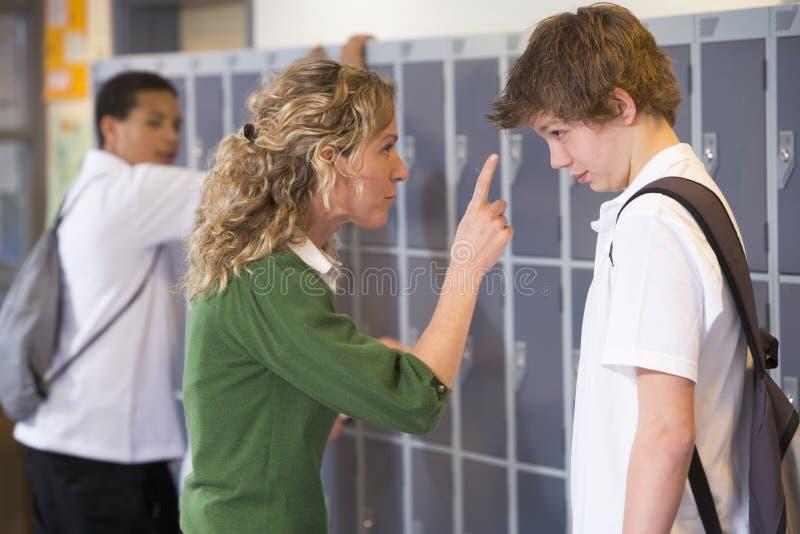 с говорить учителя студента стоковое изображение rf