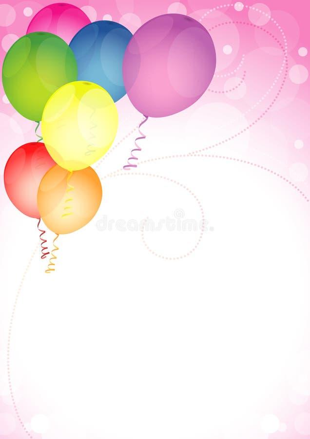 С днем рождения воздушные шары бесплатная иллюстрация