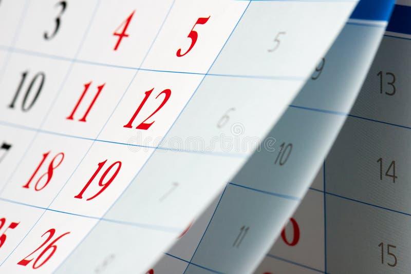 Слегка ударять 3 листов календаря стоковые фото