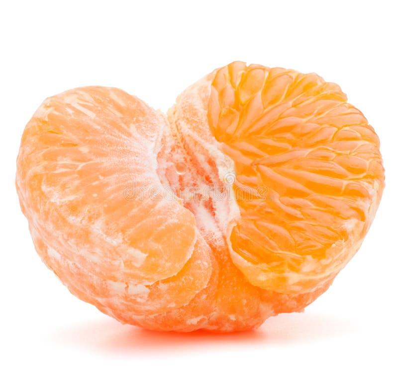Слезли половина плодоовощ tangerine или мандарина стоковые фотографии rf