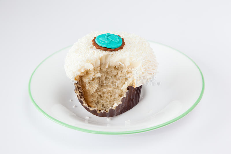 Сдержанная ваниль брызгает пирожное стоковое изображение rf
