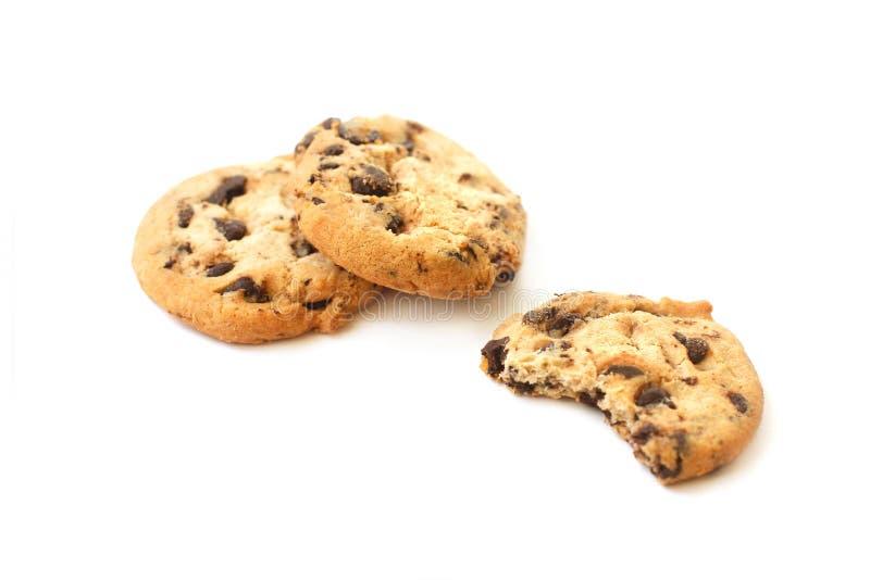 Сдержанное печенье шоколада и все печенья стоковое изображение