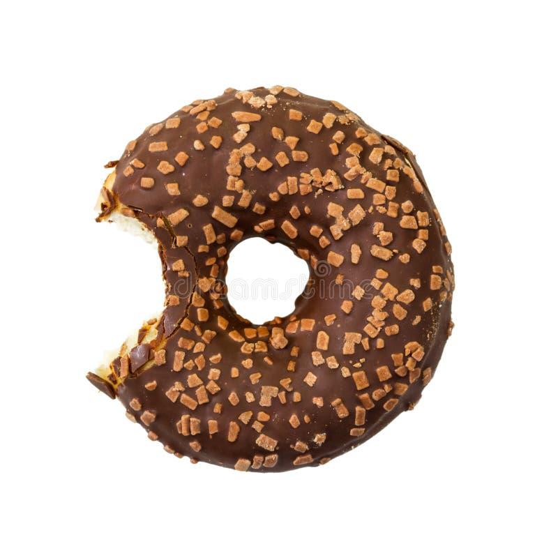 Сдержанный донут шоколада с брызгает Взгляд сверху стоковое фото