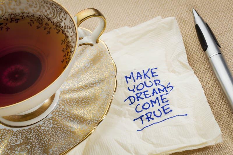 Сделайте ваши мечты прийти верно стоковые фотографии rf