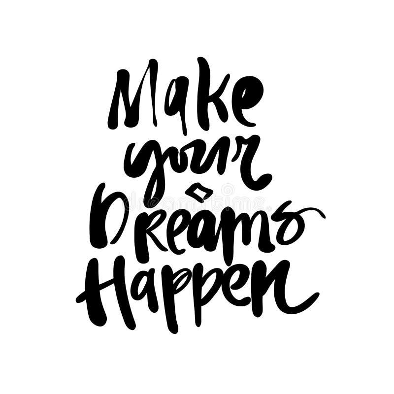 Сделайте ваши мечты случиться бесплатная иллюстрация
