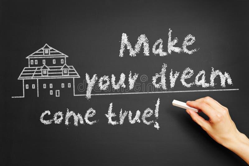 Сделайте вашу мечту прийти верно! стоковое изображение rf
