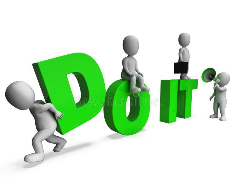 Сделайте его середины характеров действуя или примите действие прямо сейчас бесплатная иллюстрация