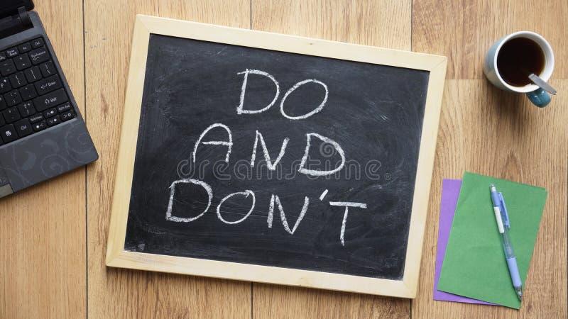 Сделайте и сделайте не написанный стоковые фото