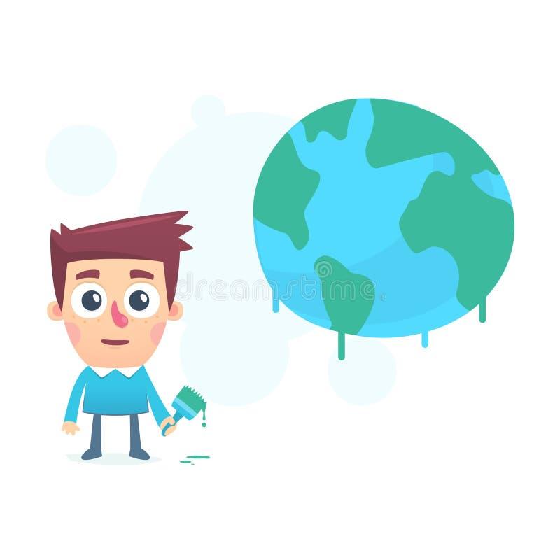 Сделайте мир лучший иллюстрация вектора