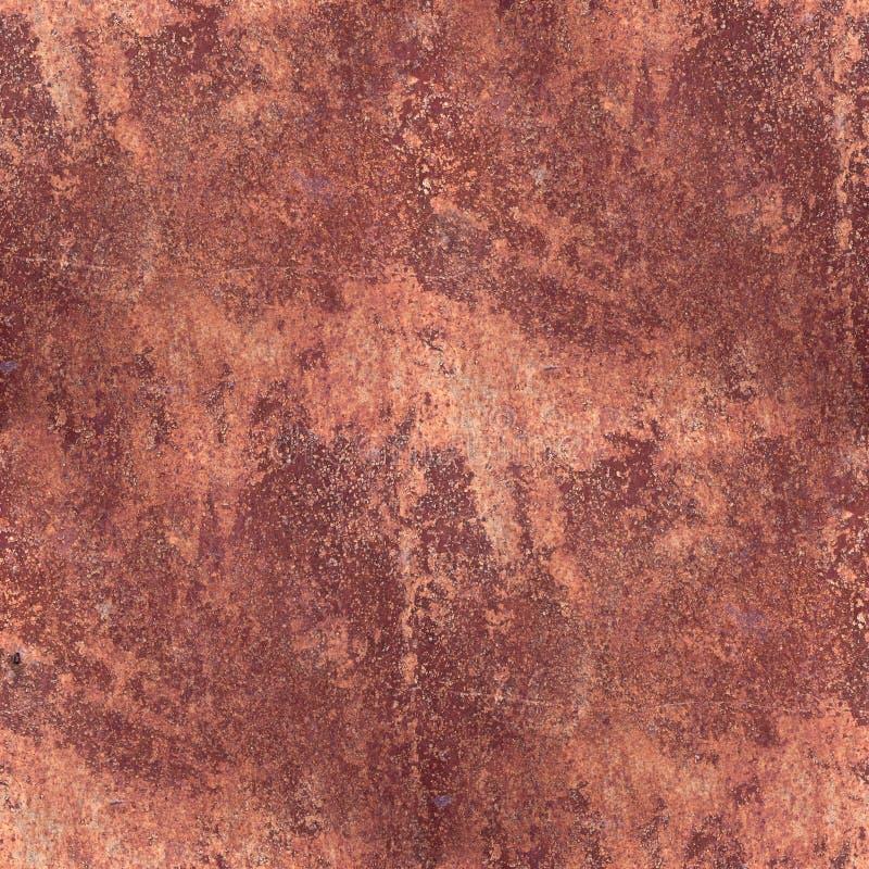Сделайте по образцу ржавчины коричневого цвета металла grunge backgroun текстуры ржавой безшовное стоковое фото