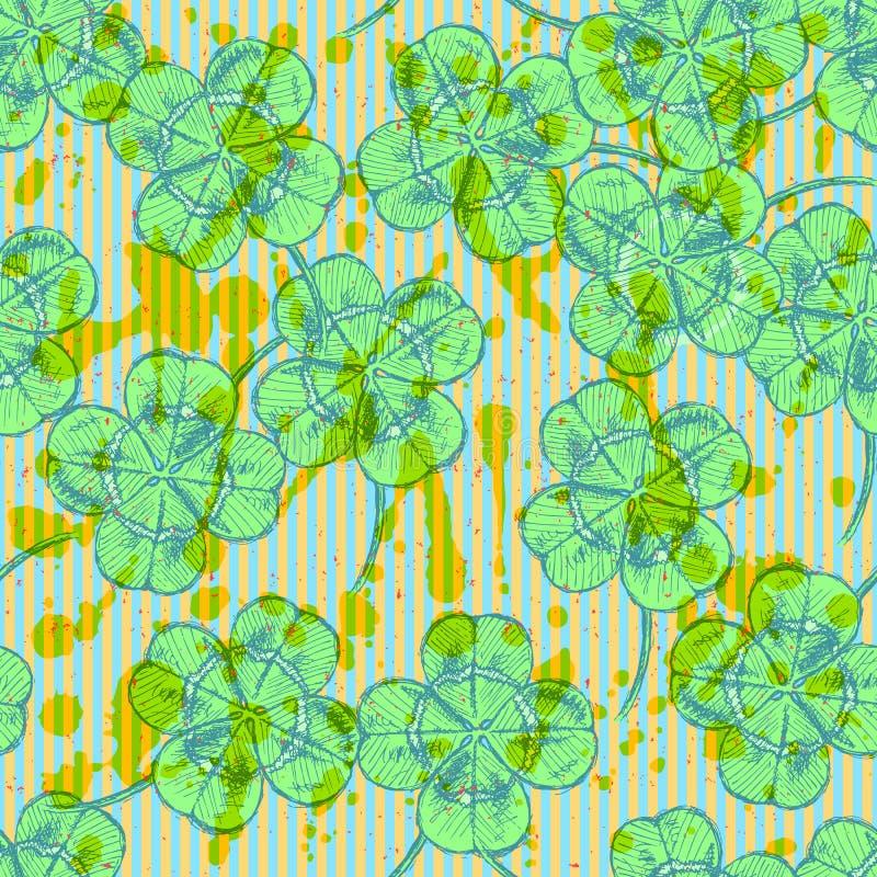 Download Сделайте эскиз к клеверу, картине вектора безшовной, Symbo дня St. Patrick Иллюстрация вектора - иллюстрации насчитывающей праздник, иллюстрация: 40581304