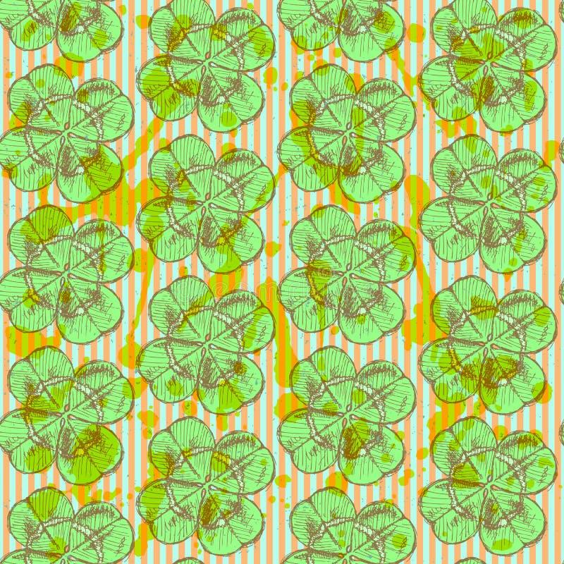 Download Сделайте эскиз к клеверу, картине вектора безшовной, Symbo дня St. Patrick Иллюстрация вектора - иллюстрации насчитывающей backhoe, культура: 40581611