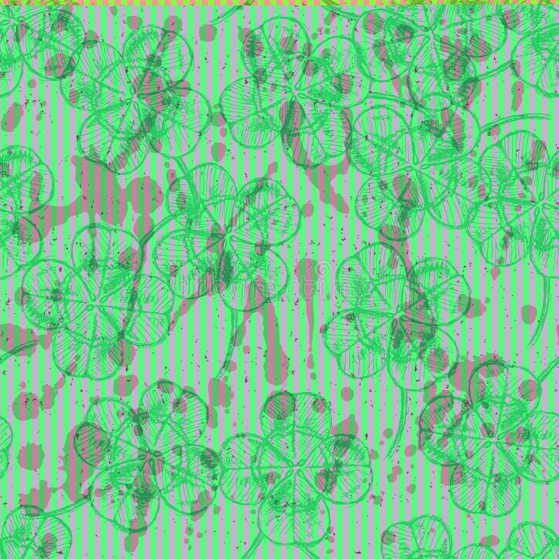 Download Сделайте эскиз к клеверу, картине вектора безшовной, Symbo дня St. Patrick Иллюстрация штока - иллюстрации насчитывающей клевер, нарисовано: 40581811