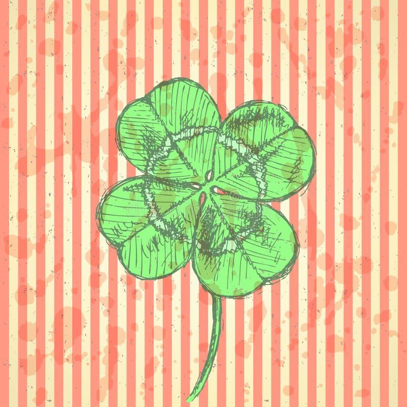 Download Сделайте эскиз к клеверу, предпосылке вектора, дню St. Patrick Иллюстрация вектора - иллюстрации насчитывающей конструкция, природа: 40581674
