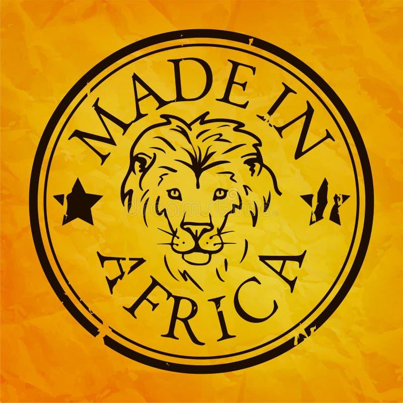 Сделанный в штемпеле Африки с львом иллюстрация штока