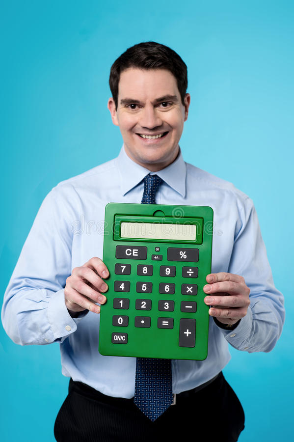Сделанный калькулятор, моей работой легкой стоковые фотографии rf