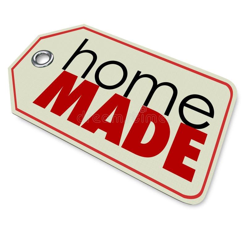 Сделанный дом формулирует продукты ценника подлинной произведенные рукой иллюстрация штока