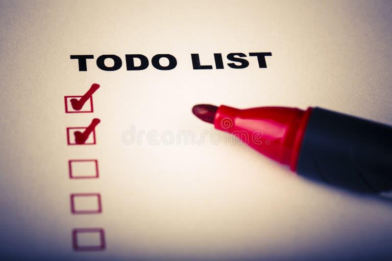 Download Сделать список с отметкой стоковое изображение. изображение насчитывающей успех - 40582095
