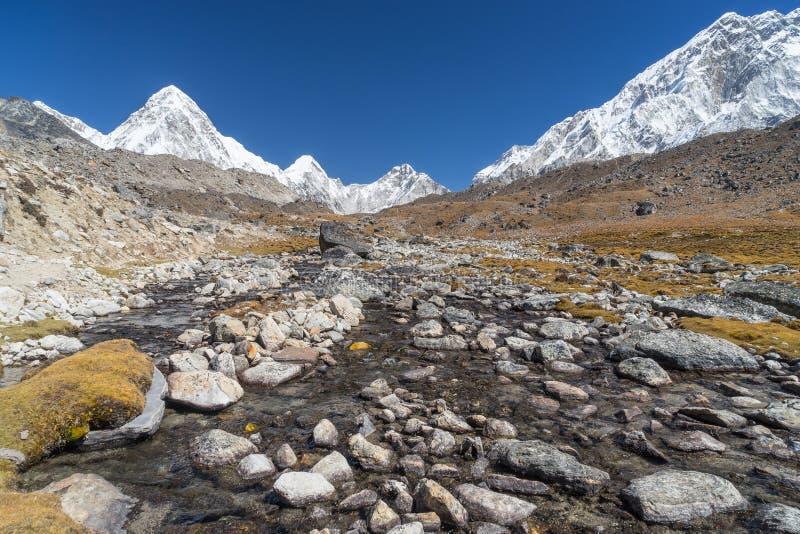 След базового лагеря Эвереста, Непал стоковые фотографии rf