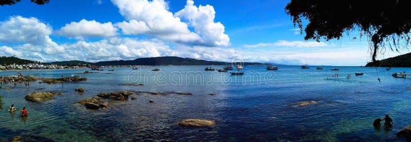 След ноги на пляже Атлантики стоковое фото rf