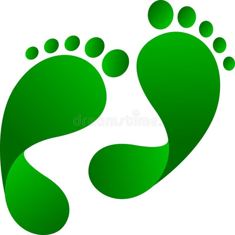 След ноги Eco бесплатная иллюстрация