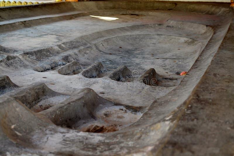 след ноги s Будды стоковая фотография rf