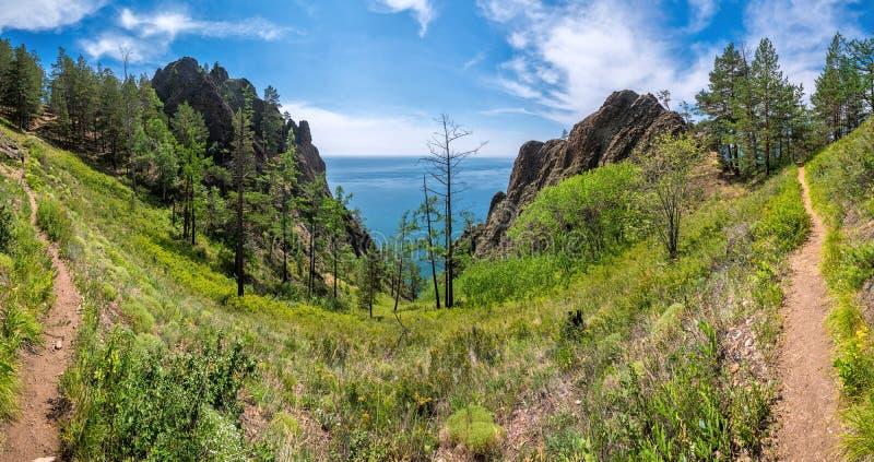 След панорамы на скале Skriper стоковые фотографии rf