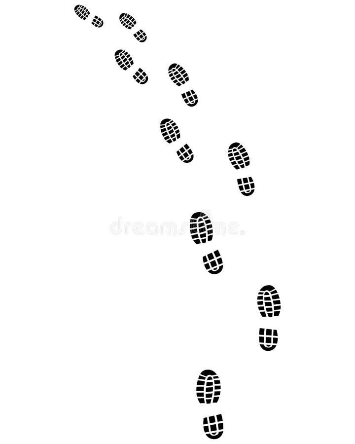 След печатей ботинок иллюстрация вектора