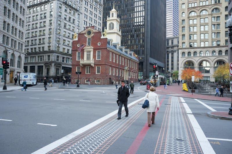 След свободы Бостона и старый дом положения стоковое фото
