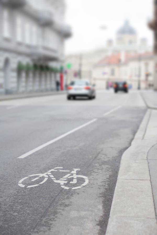 След улицы велосипеда стоковые фото