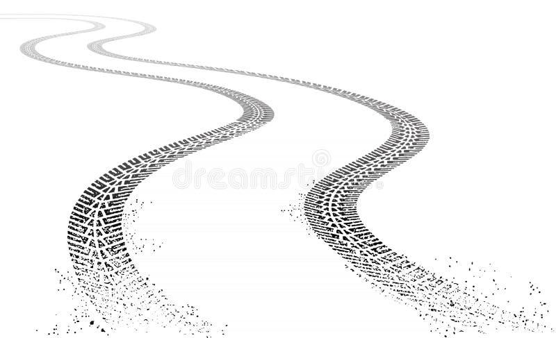 Следы автошины grunge вектора иллюстрация вектора