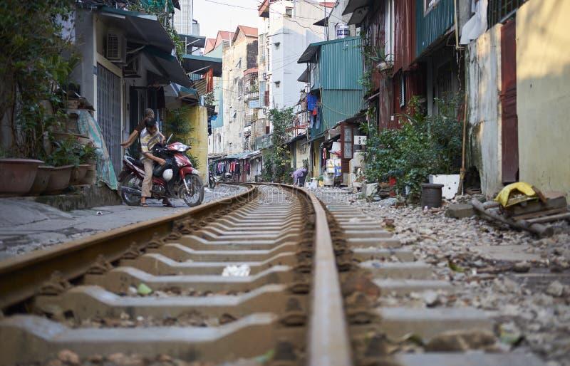 Следы в Ханое стоковая фотография rf