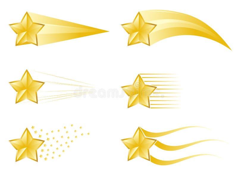Следы звезды иллюстрация штока