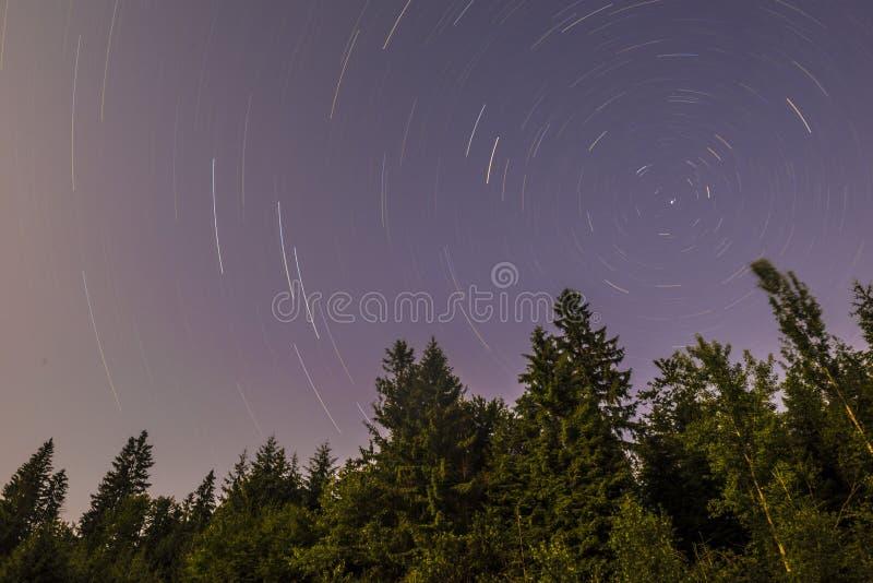 Следы звезды стоковое изображение