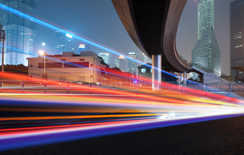 Следы света стоковое изображение rf