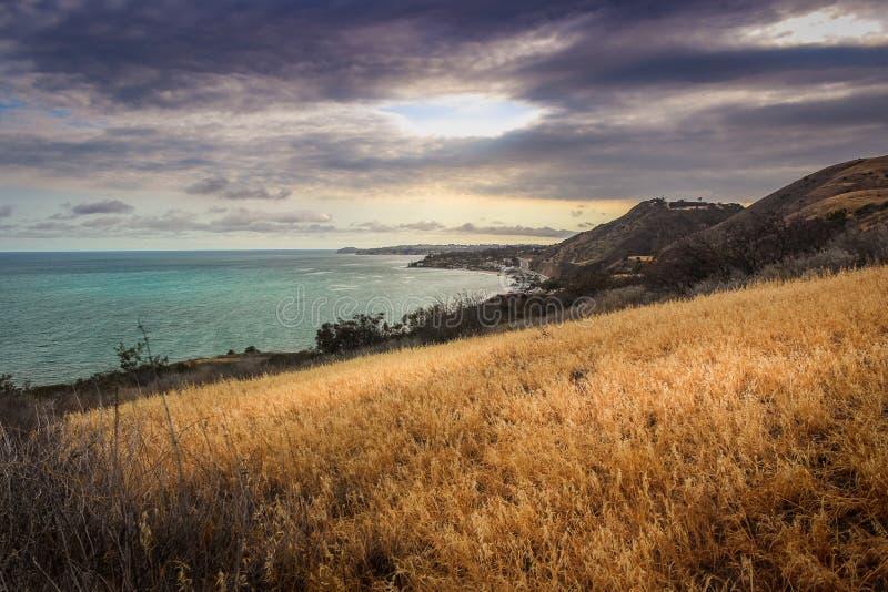 След Malibu каньона загона стоковые изображения